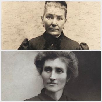 Emilie Colombini et Marie-Louise Delabre ferrailleur